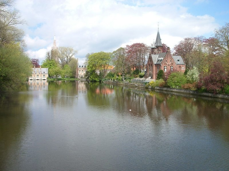 Lago Minnewater, Brujas (Bélgica)